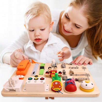 4GL 21 In 1 The Busy Learning Board Montessori Toys Busy Board Early Learning Educational Toys For Kids Mainan Bayi