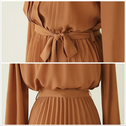 4GL Muslimah CHIFFON Long Dress Muslimah Dress Women Dress Maxi Dress Long Sleeve Baju Muslimah Baju Perempuan