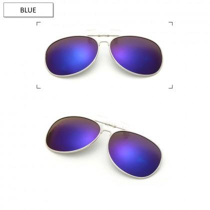 4GL CS01 Clip On Polarized Sunglasses Anti UV Glare (Style Aviator 3026)