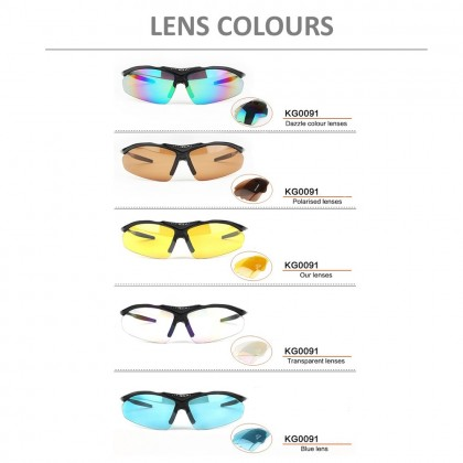4GL KUGAI COOLCHANGE 0091 Cycling Sport 5 IN 1 Sunglasses Free TR90
