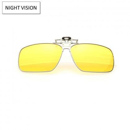 4GL CS02 Clip On Polarized Sunglasses Square Aviator Frame