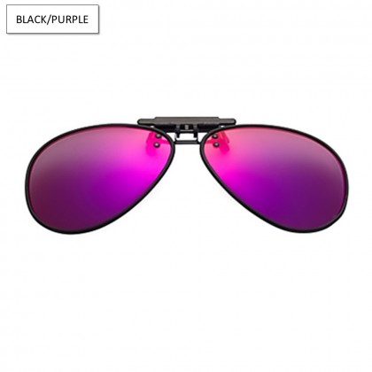 4GL CS05 Clip On Polarized Sunglasses Twilight TR90 Lightweight