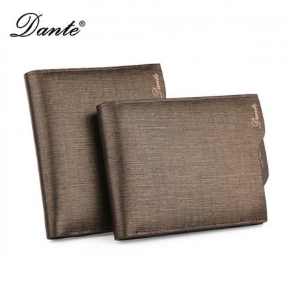 4GL DANTE Premium Genuine Leather Men Short Wallet Purse Dompet 1307
