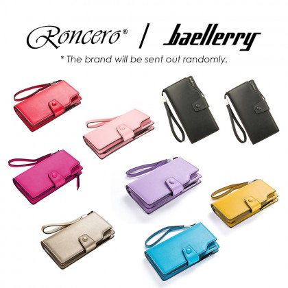 4GL Roncero A0309 / Baellerry N6048 Long Purse Zipper Clutch Wallet Wristlet Card Holder