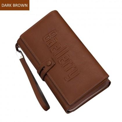 4GL Baellerry S1393 Long Wallet Men Women Purse Bag 20 Card Slot