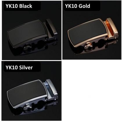 4GL YK Series Belt Business Men Leather Automatic Buckle Belts Luxury Belt 130cm
