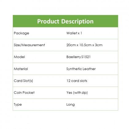 4GL Baellerry S1521 Canvas Premium long Wallet Wallets Purse