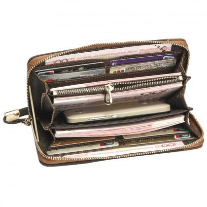 4GL Baellerry S6032 Canvas Premium Long Wallet Wallets Purse Dompet