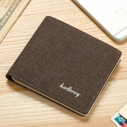 4GL Baellerry 028 Short Wallet Canvas Mens Wallets Card Holder Multi Pockets Credit Card Purse