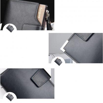 4GL Baellerry D1282 Short Wallet Men Women Purse Dompet Leather