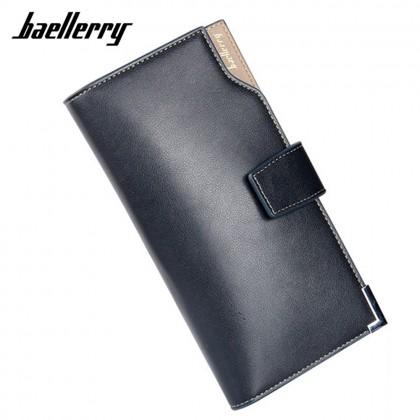 4GL Baellerry CK20 Men Women Wallet Long Purse Leather Dompet (without zip)