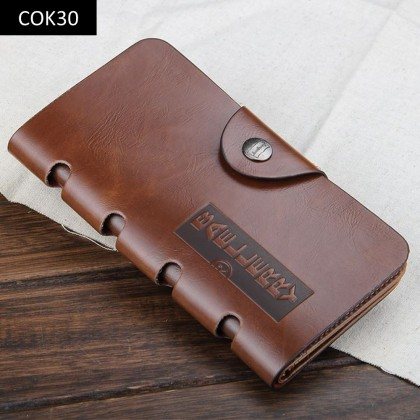 4GL Baellerry COK Long Wallet Retro Leather Purse Leather Dompet