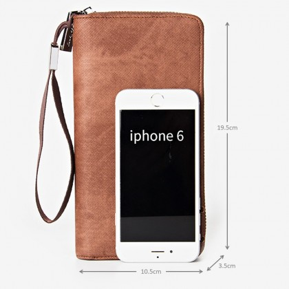 4GL Baellerry S1513 Canvas Handphone Men Women Wallet Long Purse Dompet