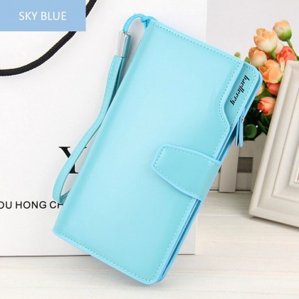 4GL Baellerry N1503 Handphone Purse Long Zipper Wallet Wristlet Dompet
