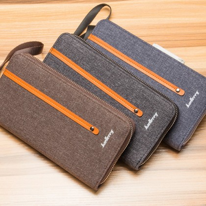 4GL Baellerry S1523 Canvas Long Wallet Purse Dompet