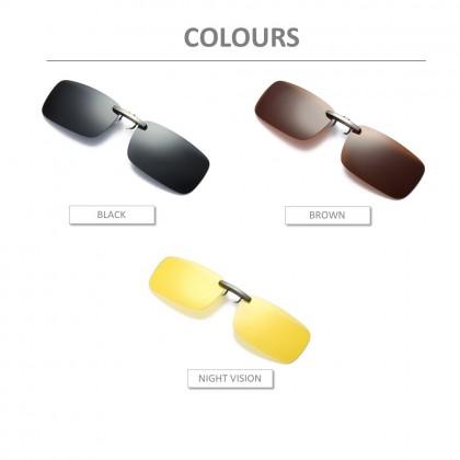 4GL CS06 Clip On Polarized Sunglasses (For Thin Glasses Frame)
