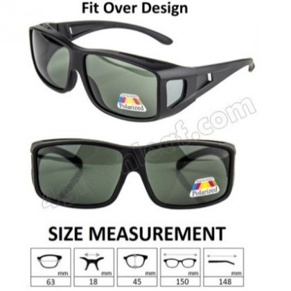 4GL SFO Polarized Sunglasses Fit Over Overlap (UV400)