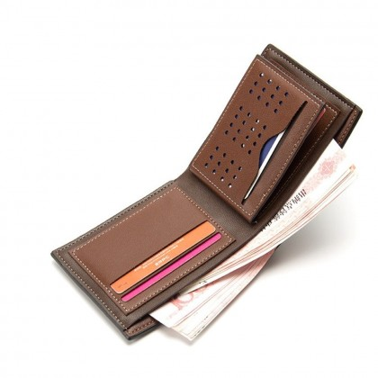 4GL Baellerry DR005 Short Wallet Minimalist Men Leather Purse Dompet