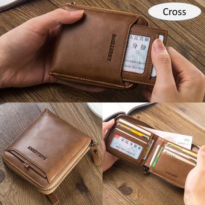 4GL Baellerry D3124 Short Wallet Men Coin Purse Card Holder Dompet Beg