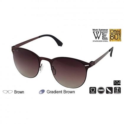 4GL Work Eyewear Otter 801 Stainless Steel Screwless Light Polarized Sunglasses