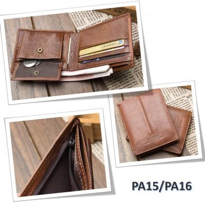 4GL BAELLERRY Leather Wallet Men Short Wallet Dompet 208-A01
