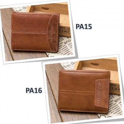 4GL BAELLERRY Leather Wallet Men Short Wallet Dompet 208-A04