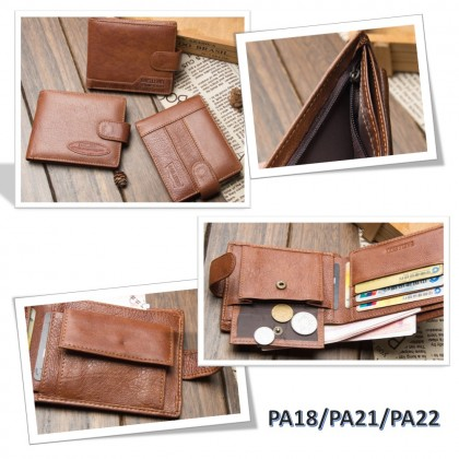 4GL BAELLERRY Leather Wallet Men Short Wallet Dompet 208-PA18