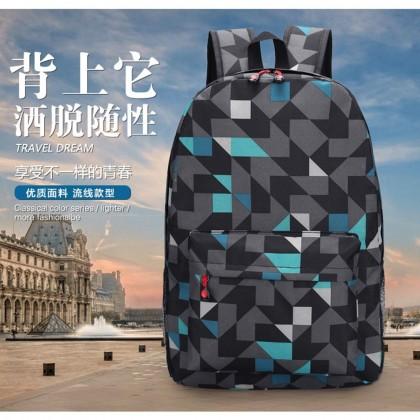 4GL Tri Colour Backpack Bag Pack School Bag Beg Sekolah Bag Sekolah Laptop Bag