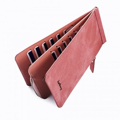 4GL Baellerry B1508 26 Card Slots Wallet Long Purse Zipper Dompet