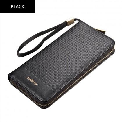 4GL Baellerry S6055 Men Women Wallet Long Zipper Purse Wristlet Dompet