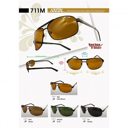4GL Ideal 711M Polarized Sunglasses Men Unisex Fashion UV400