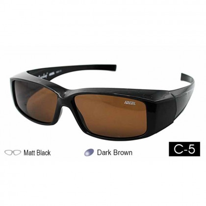 4GL Ideal 588-8929 Polarized Sunglasses Fit Over Overlap Sport UV 400
