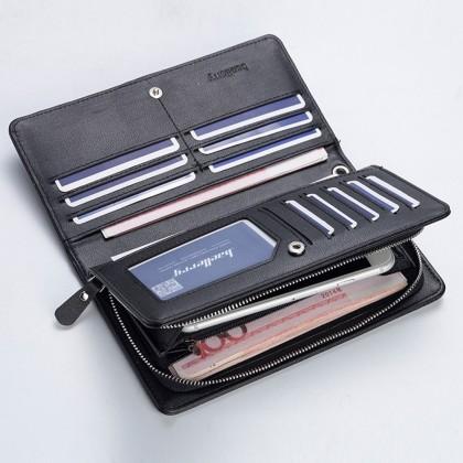 4GL Baellerry 318 Men Women Wallet Long Zipper Purse Wristlet Dompet