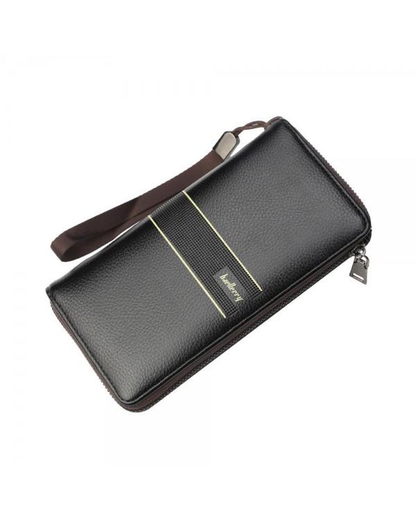 4GL Baellerry S6088 Men Wallet Long Zipper Purse Wristlet Dompet