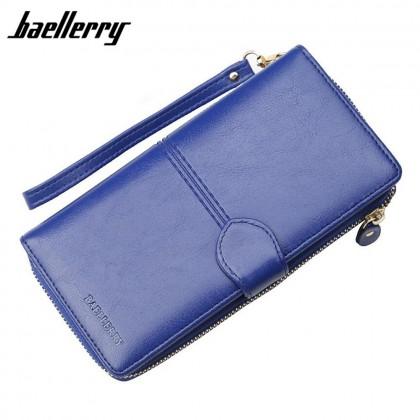 4GL Baellerry N3846 Women Long Zipper Purse Wallet Wristlet Card Holder Dompet