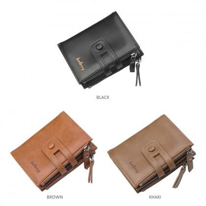 4GL Baellerry D3206 Short Wallet Men Zipper Purse Card Holder Dompet