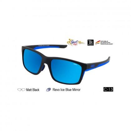 4GL Ideal 388-9000 Polarized Sunglasses Sport UV400 TR Frame