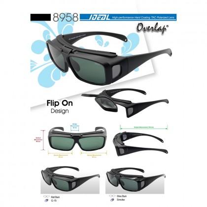 4GL Ideal 8958 Polarized Sunglasses Overlap Fit Over Sport UV 400