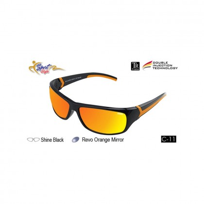 4GL Ideal 388-9001 Polarized Sunglasses Sport UV400 TR Frame