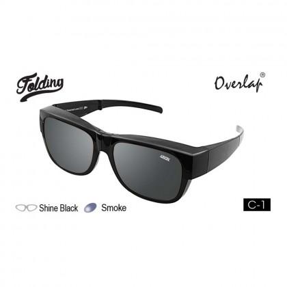 4GL Ideal 588-9016 Polarized Sunglasses Overlap Folding UV400 Cemin Mata Lipat