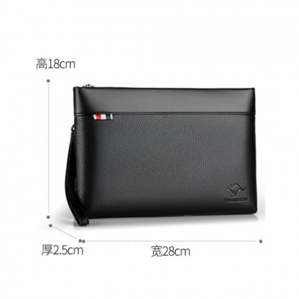 4GL 596 Men Fashion Leather Clutch Long Wallet Purse Bag Dompet Beg A0157