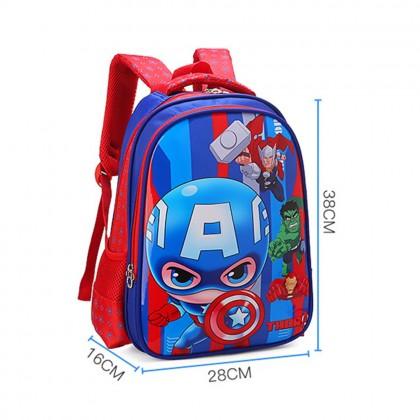 4GL Kids Cartoon PU Backpack Bag Pack School Bag Beg Sekolah Bag Sekolah A0907