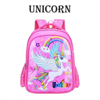 4GL Kids Cartoon PU Backpack Bag Pack School Bag Beg Sekolah Bag Sekolah A0908
