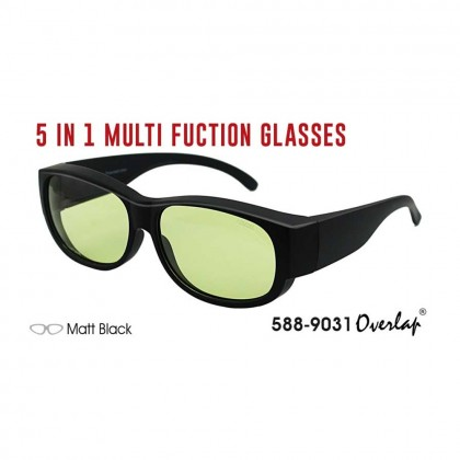 4GL IDEAL 588-9031 5 In 1 Multi Function Glasses Photochromic HD Polarized UV Protection Sunglasses