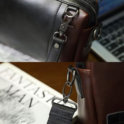 4GL 80304 Clutch Men 2 Ways Use Leather Crossbody Sling Bag Beg A0158