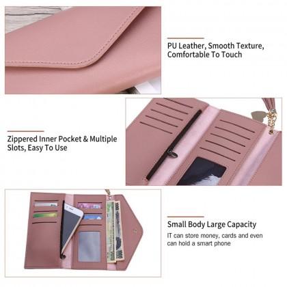 4GL 8802 Envelope Long Purse Women Purse Wallet Dompet Bag Beg A0338