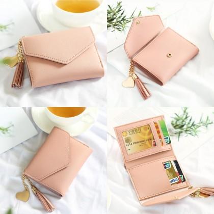 4GL Women Purse 8602 Envelope Short Purse Wallet Dompet Bag Beg A0417