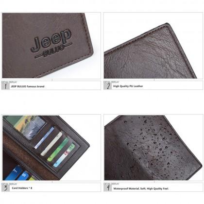 4GL Men Wallet Jeep Buluo 8068 Leather Long Wallet Purse Dompet Beg A0159