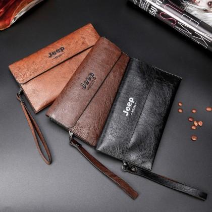 4GL Men Wallet Jeep Buluo 1717 Leather Clutch Long Wallet Purse Dompet Beg A0161
