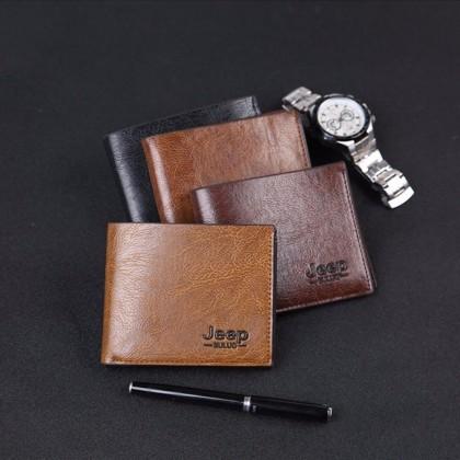 4GL Men Wallet Jeep Buluo 8068-1 Leather Short Wallet Purse Dompet Bag Beg A0265